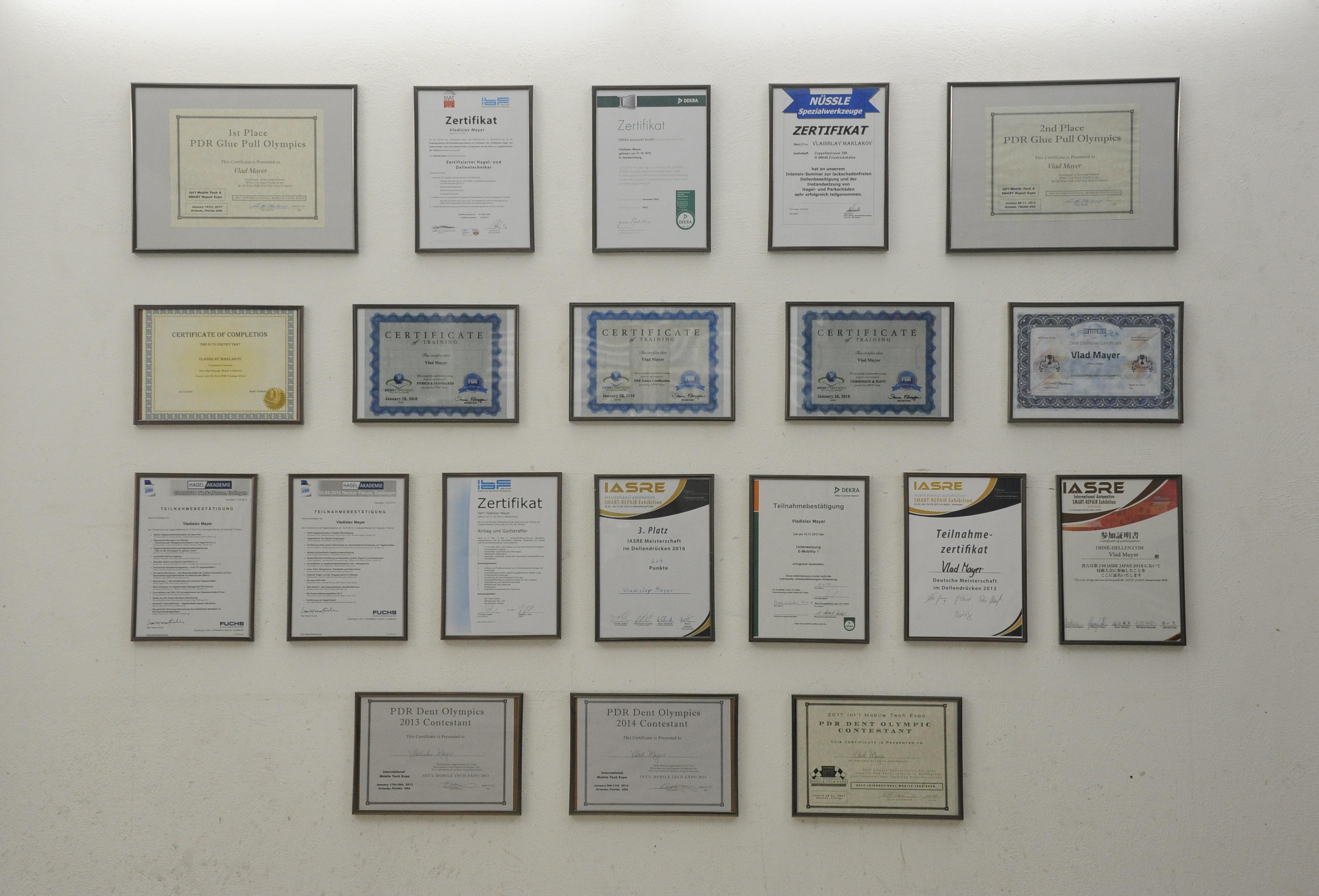 Alle Zertifikate